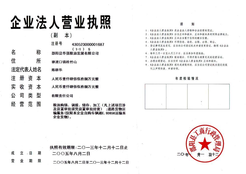 邵阳县华强粮油发展有限公司