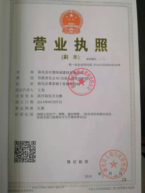 新化县红旗海成建材有限公司