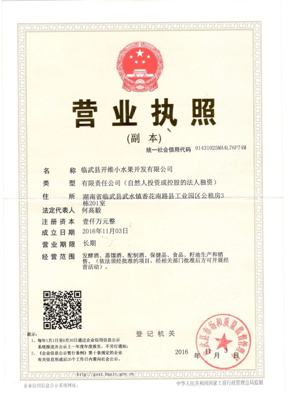 临武县开维小水果开发有限公司