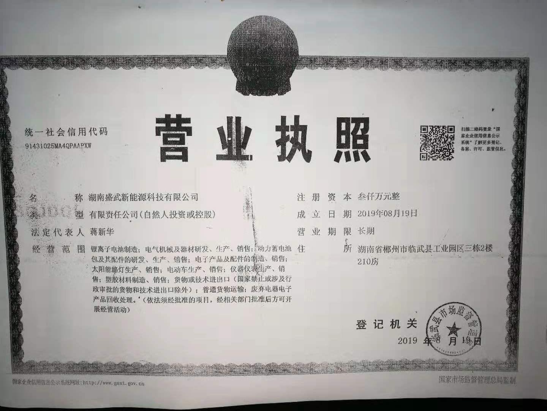 湖南盛武新能源科技有限公司