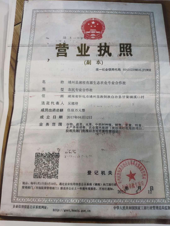 靖州县湘桂有源生态农业专业合作社