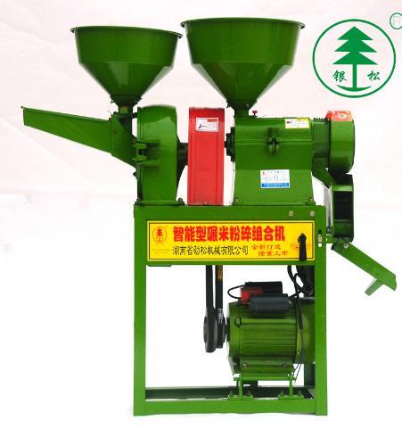 湖南省劲松机械有限公司银松牌 稻谷砻谷碾米组合机 新款一体砻谷机碾米机