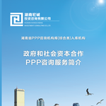 PPP项目全过程咨询服务
