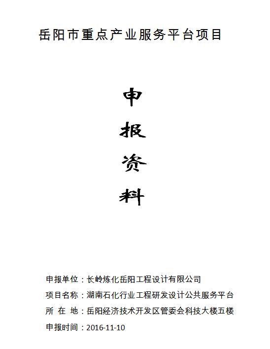 企业搭建岳阳市重点产业服务平台咨询服务