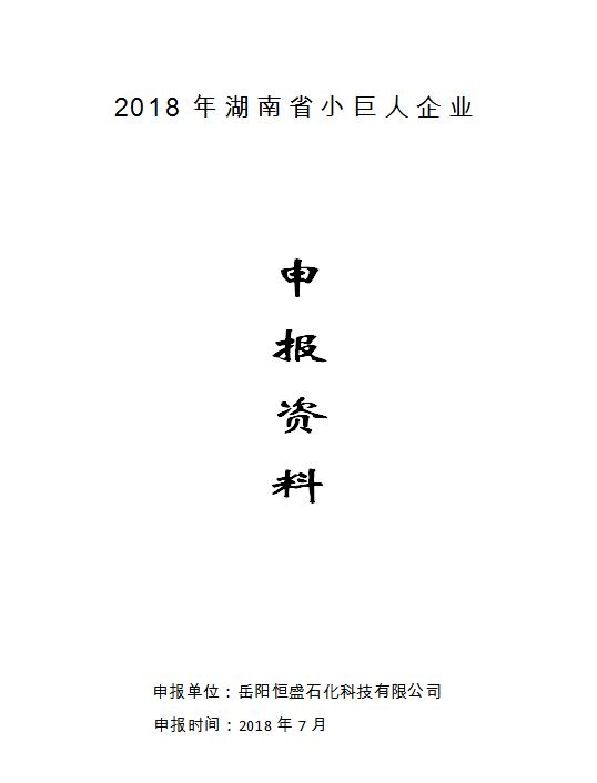 湖南省小巨人企业申报