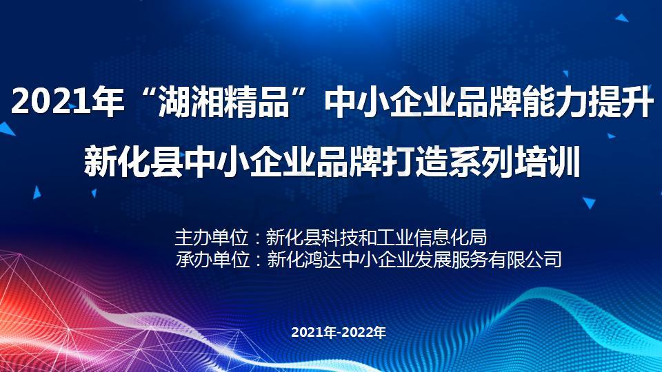 """""""湖湘精品""""中小企业品牌能力提升培训服务"""
