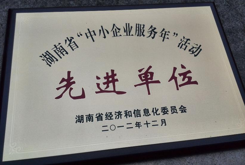 湖南省中小企业服务先进单位
