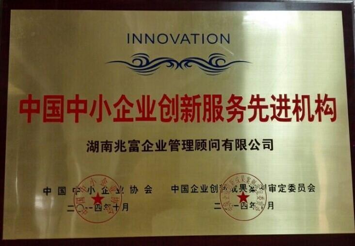 中国中小企业创新服务先进机构