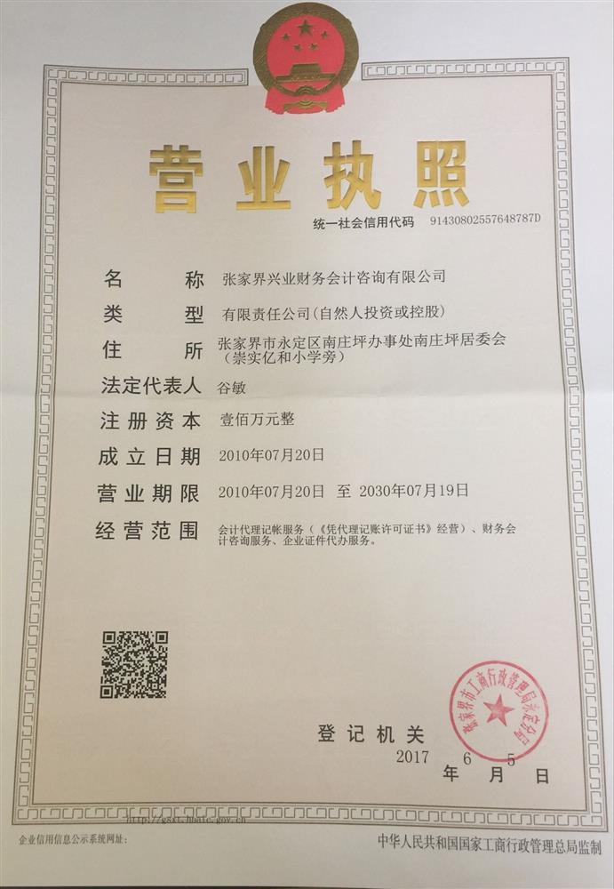 张家界兴业财务会计咨询有限公司