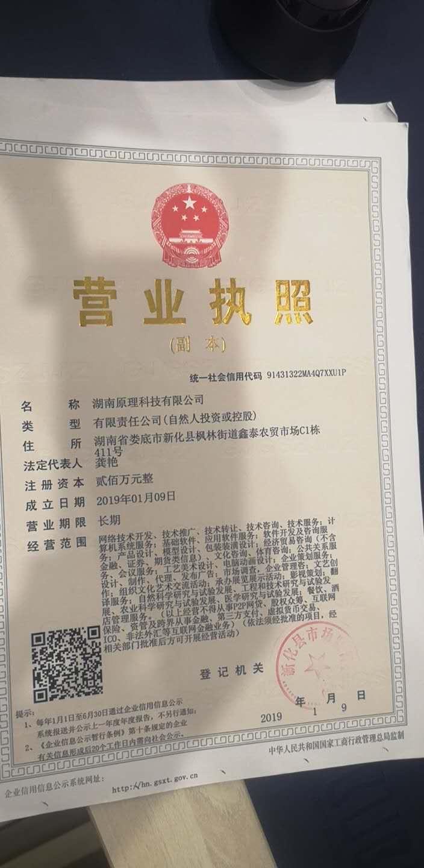 湖南原理科技有限公司