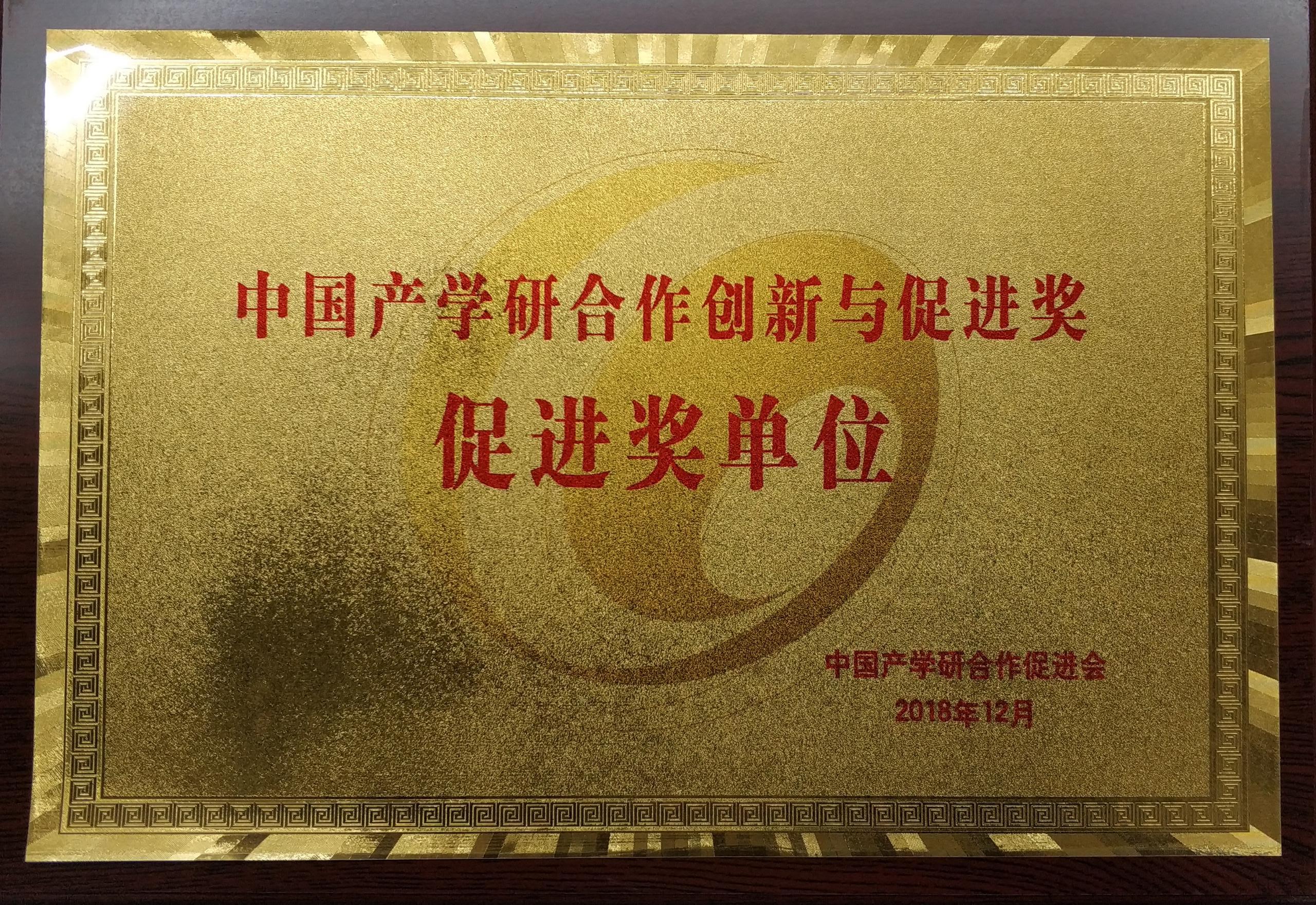 【實物圖】中國產學研合作促進獎_牌子