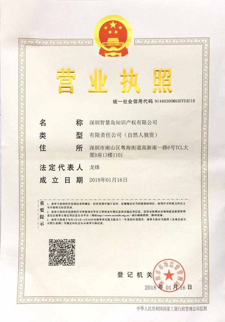 深圳智慧岛知识产权有限公司