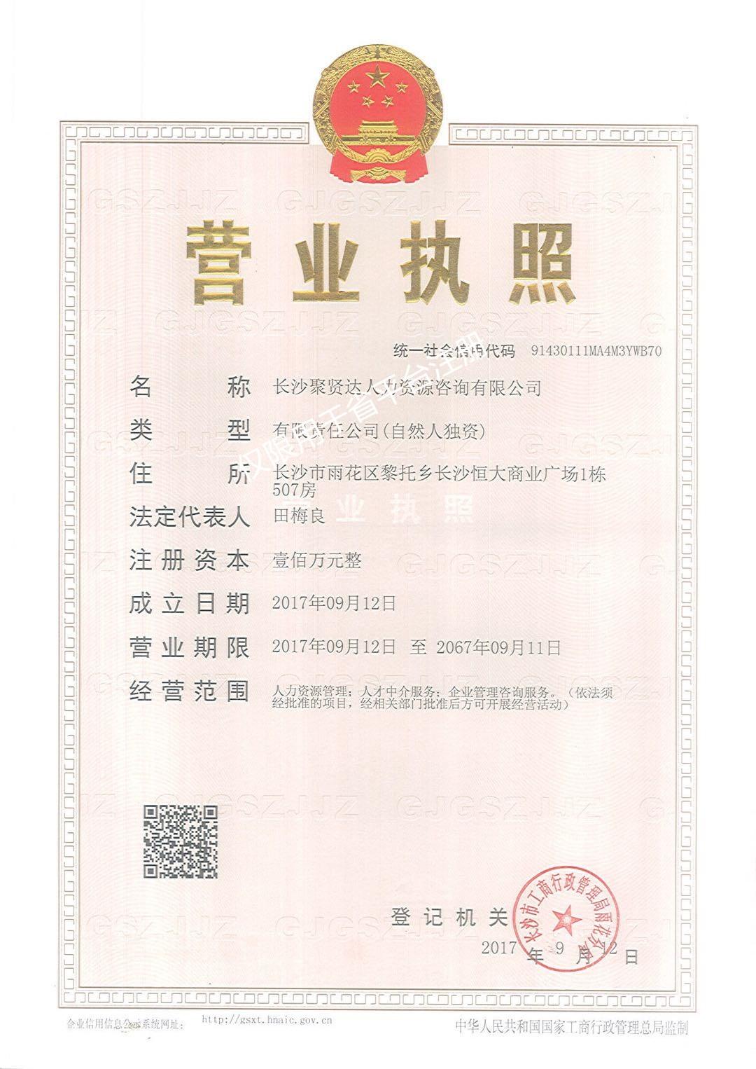 长沙聚贤达人力资源咨询有限公司