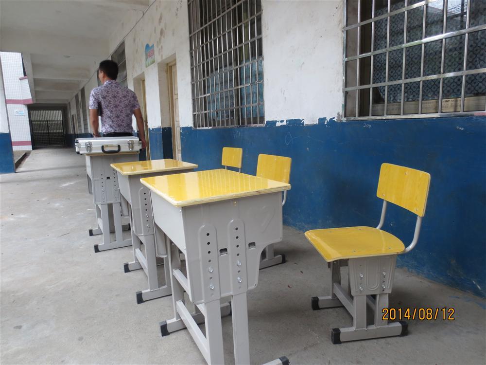 对邵阳县政府采购课桌椅验收