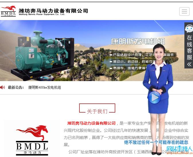 建站案例—潍坊奔马动力设备有限公司