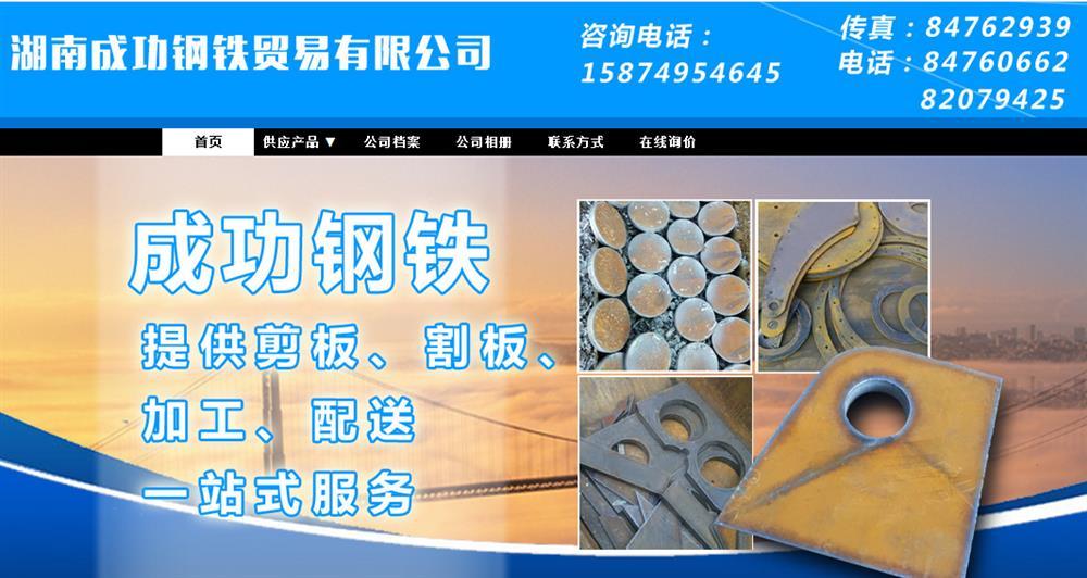 湖南成功钢铁贸易有限公司全网营销服务案例