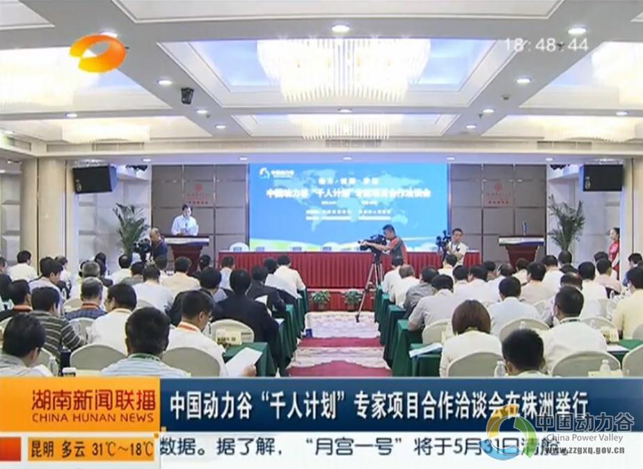 """湖南卫视:中国动力谷""""千人计划""""专家项目合作洽谈会在株洲举行"""