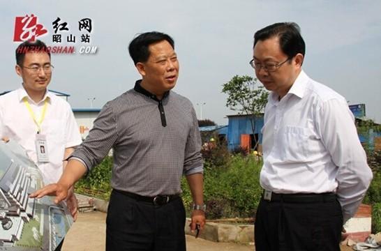 市委副秘书长、接待办主任张湘汉一行莅临我区调研