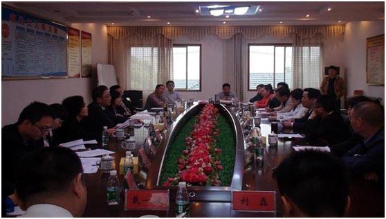 中国农业发展银行湖南省分行行长谢文等相关领导来华容县纺织企业调研