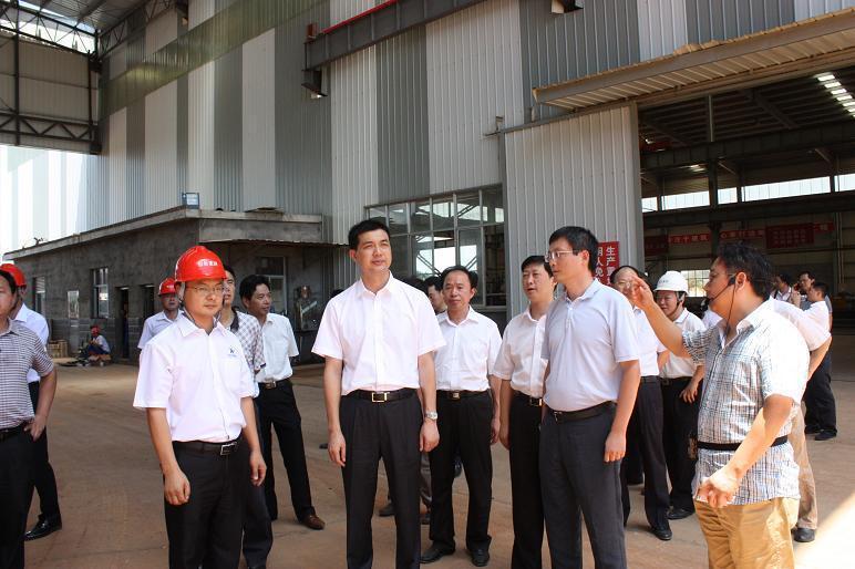 周海兵视察我县重点工业项目建设情况