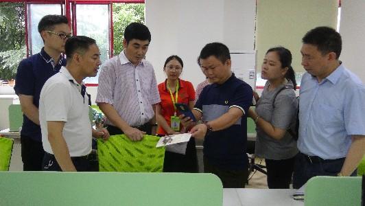 高新区管委会主任朱振湘来园区调研